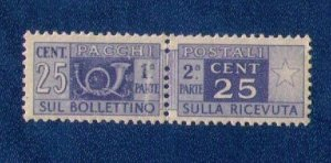 ITALY SC #Q61 BACK OF BOOK MNH ,OG ,CENTER CONNECTED VF
