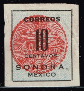 MEXICO STAMP SORONA ISSUE STAMP COLLECTION LOT #7 10C RED