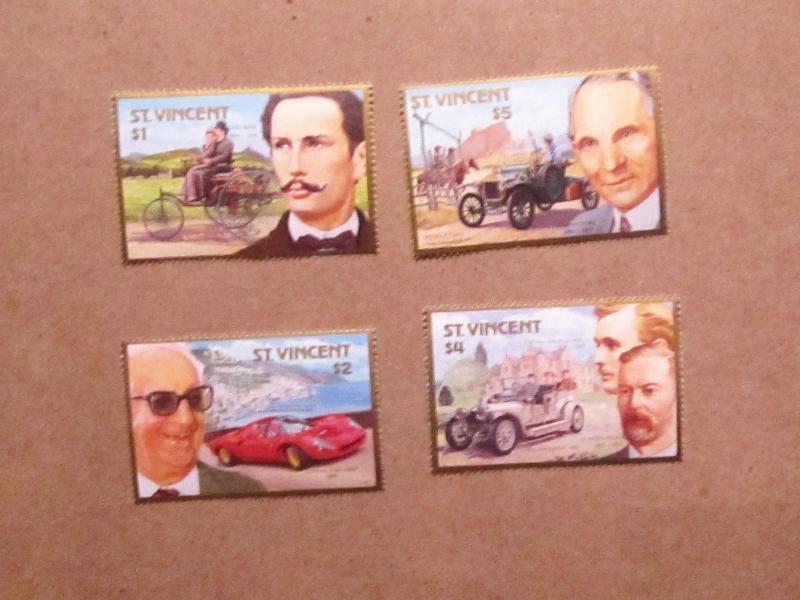 St. Vincent - 1044-47, MNH Set. Auto Centenary. SCV - $6.25