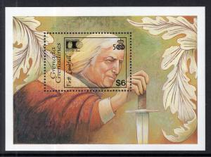 Grenada Grendines 1412 Columbus Souvenir Sheet MNH VF