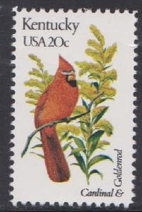 1969 Kentucky Birds and Flowers F-VF MNH single