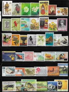 12333  Papua New Guinea 40 diff. stamps - good starter collection