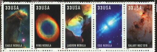 2000 sheet Hubble Space Telescope Images Sc# 3384-3388