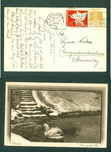 Denmark. Christmas Card 1933 With Seal + 10 Ore.Swan,Old Town Aarhus.
