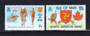 Isle Of Man MNH 139-40 Commonwealth Games 1978
