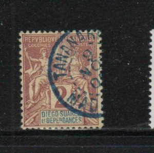 DIEGO-SUAREZ #261892  2c NAVIGATION & COMMERCE   F-VF  USED