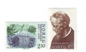 Norway Sc 913-4 1987 Fartein Valen stamps mint NH