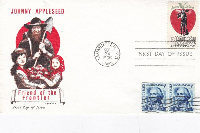 United States 1966 Johnny Appleseed FDC Unadressed VGC D