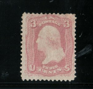 USA #64a Mint Fine Pigeon Blood Pink With Original Gum Hinged *With Certificate*