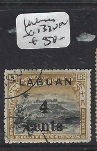 LABUAN   (P2704B)  4C/18C MOUNTAIN  SG 133   VFU