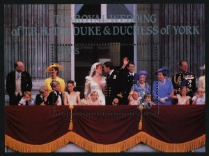 Nevis 500 MNH Prince Andrew, Sarah Ferguson Wedding