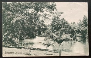 1910 Tanjonga Pore Singapore RPPC Postcard cover To Cincinnati OH USA Botanic