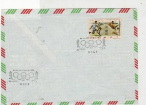 Timor Rep. Portugal 1972 Olympic Games cancels football stamps cover ref 21803