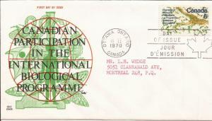 1970 Canada (Cole) FDC - Sc 507 - UN Biological Programme - Interior of a Leaf