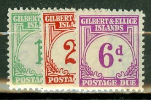 B: Gilbert & Ellice J1-6 MNH CV $90; scan shows only a few