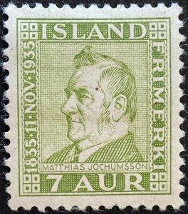 AlexStamps ICELAND #197 SUPERB Mint