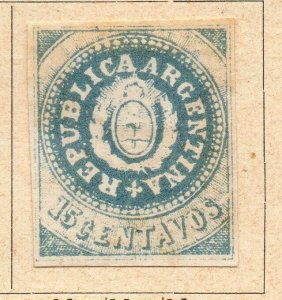Argentina 1862 Early Issue Fine Mint Hinged 15c. NW-11807