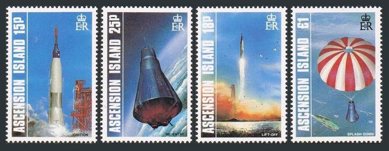 Ascension 420-423, Mnh.michel 429-432. 1st Habités Vol Spatial, 25th Ann.1987
