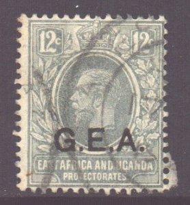 Tanganyika Scott N110 - SG50, 1917 GEA Overprint 12c used