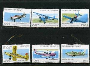 GUINEA 1995 Sc#1305-1310 AVIATION SET OF 6 STAMPS MNH