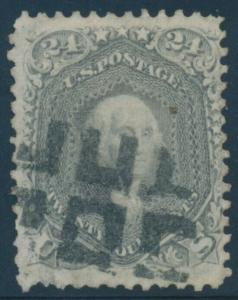 #78b 24c VF+ USED WITH FANCY GEOMETRIC CANCEL CV $425 AU879
