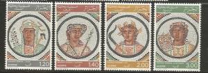 Algeria MNH sc# 591-4 Roman Mossics 2014CV $10.00