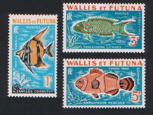 Wallis and Futuna Fish Postage Due 3v SG#D182-D184 SC#J37-J39