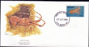 Grenada FDC SC# 1893 Longarm Spiny Lobster L40