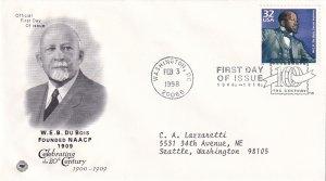1998, W.E.B. DuBois Founded NAACP-1909, PCS, FDC (E12296)