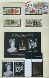 JE85) Jersey 2012 Visit Jersey (4) & QEII Accession Diamond Jubilee Holographic