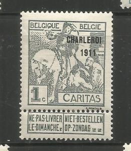 BELGIUM, B17, MINT HINGED, OVPTD 1911 ST. MARTIN OF TOURS DIVIDING HIS CLOAK