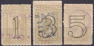 US #R184, R186-7 F-VF Used CV $26.40 (Z2499)