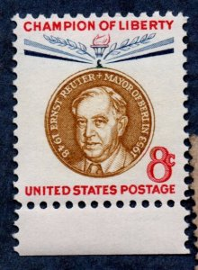 US Scott #1137 8c Ernst Reuter Champions of Liberty Series MNH (1959)