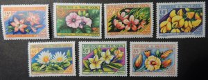 Upper Volta 1963 flowers 7v MNH