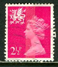Great Britain, Region, Wales; 1971: Sc. # WMMH1: O/Used Single Stamp
