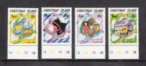 Christmas Island Scott #222-225 MNH