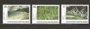 Cocos Islands Scott catalog # 159-161 Mint NH