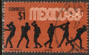 MEXICO 994, $1P Boxing 4th Pre-Olympic Set Used. VF. (755)