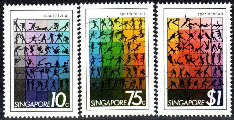 Singapore #375-7 MNH  CV $5.05  (X8191)