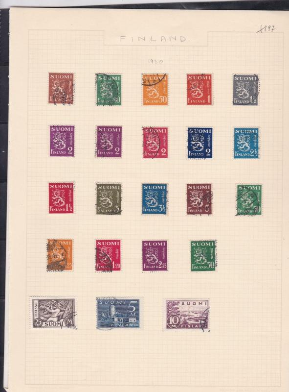 finland 1930-47  stamps page ref 18042
