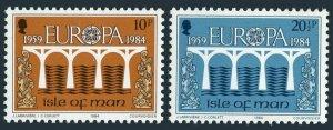 Isle of Man 260-261 sheets,MNH.Michel 261-262 bogens. EUROPE CEPT-1984,Bridge.