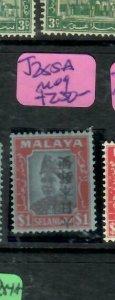MALAYA JAPANESE OCCUPATION SELANGOR (P2304B) KANJI  $1.00 SG J285A INV OVPT  MOG