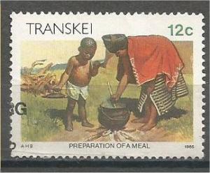 TRANSKEI, 1984, CTO 12c, Xhosa Lifestyle.Scott 140