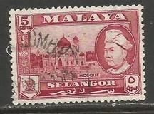 MALAYA SELANGOR 105 VFU O260-13