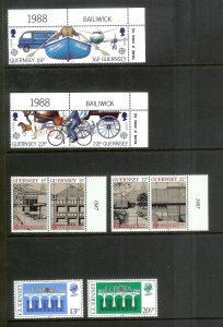 GUERNSEY Europa (58) All Mint Unused Stamps Most Lightly Hinged