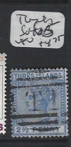 TURKS ISLANDS (P1805BB)  QV 2 1/2D  SG 65 CANCEL  T1  VFU