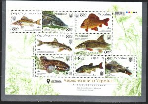 Ukraine. 2019. Small sheet 1837-44. Fish of the Black Sea. MVLH.