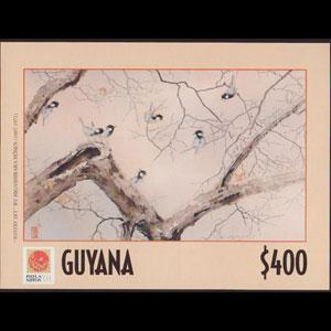 GUYANA 2001 - Scott# 3634 S/S Japan Art NH