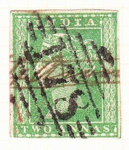 INDIA 1854 QV 2 Anna Green (Shades) SG31 Used