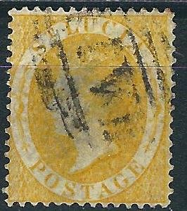 St. Lucia 12 SG 12 Used F/VF 1864 SCV $24.00
